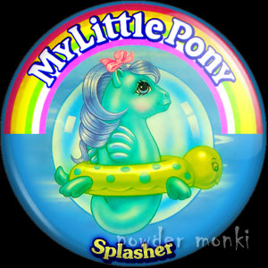 "My Little Pony Y3 Sea ""Splasher"" - Retro Toy Badge/Magnet"