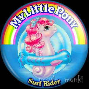 "My Little Pony Y3 Sea ""Surf Rider"" - Retro Toy Badge/Magnet"