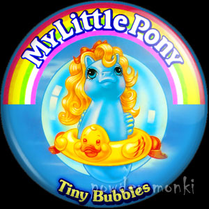 "My Little Pony Y3 Sea ""Tiny Bubbles"" - Retro Toy Badge/Magnet"
