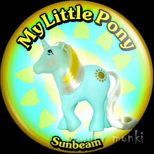 "My Little Pony Y2 ""Sunbeam"" - Retro Toy Badge/Magnet"