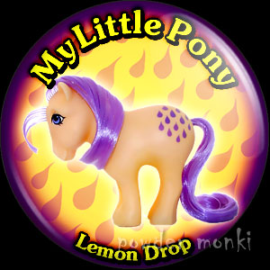 "My Little Pony Y2 ""Lemon Drop"" - Retro Toy Badge/Magnet"