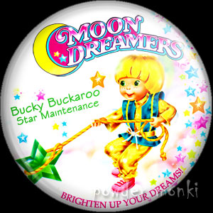"Moon Dreamers ""Bucky Buckaroo"" - Retro Toy Badge/Magnet"