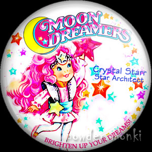"Moon Dreamers ""Crystal Starr"" - Retro Toy Badge/Magnet"