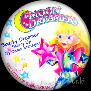 "Moon Dreamers ""Sparky Dreamer"" - Retro Toy Badge/Magnet"