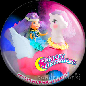 "Moon Dreamers ""Twilight Team"" - Retro Toy Badge/Magnet"