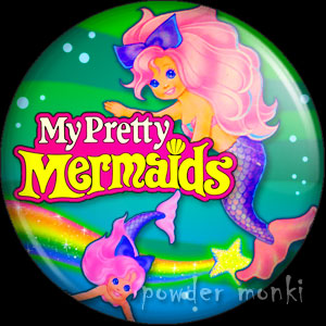 My Pretty Mermaids - Retro Toy Badge/Magnet