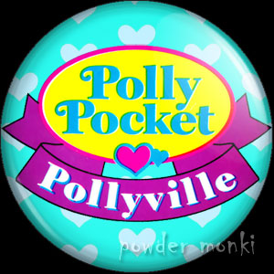 "Polly Pocket ""Pollyville"" - Retro Toy Badge/Magnet"