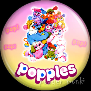 Popples - Retro Toy Badge/Magnet