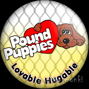 Pound Puppies - Retro Toy Badge/Magnet