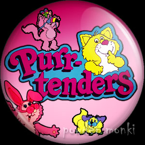 Purr-tenders - Retro Toy Badge/Magnet