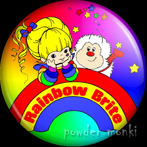 Rainbow Brite and Twink - Retro Toy Badge/Magnet