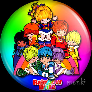 Rainbow Brite & The Color Kids - Retro Toy Badge/Magnet