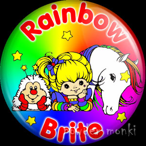 Rainbow Brite, Twink & Starlite - Retro Toy Badge/Magnet