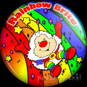 "Rainbow Brite ""Twink on a Rainbow"" - Retro Toy Badge/Magnet"