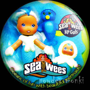 "Sea Wees ""Icy-Gals"" - Retro Toy Badge/Magnet"