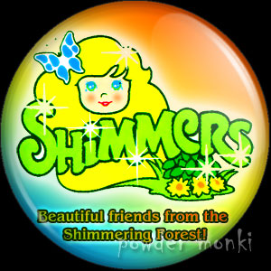 Shimmers - Retro Toy Badge/Magnet
