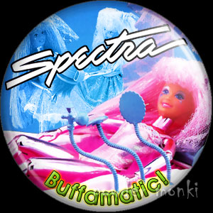 "Spectra ""Buffamatic"" - Retro Toy Badge/Magnet"