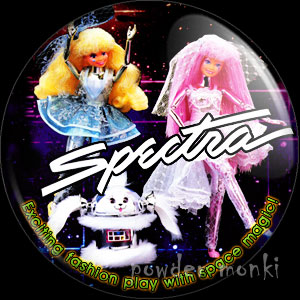 "Spectra ""Spectra, AstraGold & Spark"" - Retro Toy Badge/Magnet"