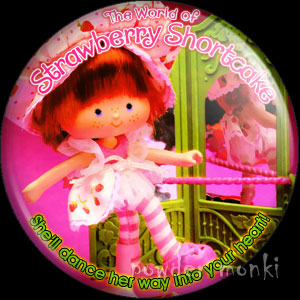 "Strawberry Shortcake ""Dancing SS"" - Retro Toy Badge/Magnet"