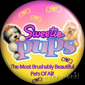Sweetie Pups - Retro Toy Badge/Magnet