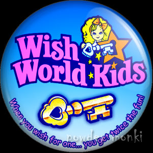 Wish World Kids - Retro Toy Badge/Magnet