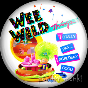 Wee Wild Things - Retro Toy Badge/Magnet