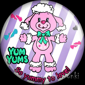 "Yum Yums ""Cheery Cherry Poodle"" - Retro Toy Badge/Magnet"
