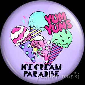 "Yum Yums ""Cheery Cherry Poodle"" - Retro Toy Badge/Magnet 2"