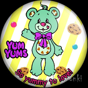 "Yum Yums ""Chuckle Chip Bear"" - Retro Toy Badge/Magnet"