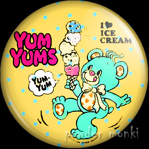 "Yum Yums ""Chuckle Chip Bear"" - Retro Toy Badge/Magnet 2"
