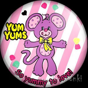 "Yum Yums ""Goody Grape Mouse"" - Retro Toy Badge/Magnet"