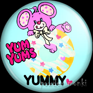 "Yum Yums ""Goody Grape Mouse"" - Retro Toy Badge/Magnet 2"