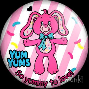"Yum Yums ""Jumpin' Jellybean Bunny"" - Retro Toy Badge/Magnet"