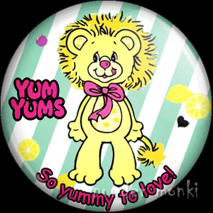 "Yum Yums ""Lucky Lemon Lion"" - Retro Toy Badge/Magnet"