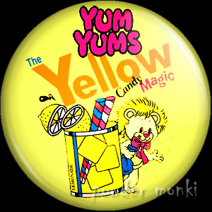 "Yum Yums ""Lucky Lemon Lion"" - Retro Toy Badge/Magnet 2"