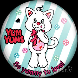 "Yum Yums ""Peppymint Kitty"" - Retro Toy Badge/Magnet"