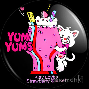 "Yum Yums ""Peppymint Kitty"" - Retro Toy Badge/Magnet 2"