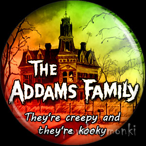 Addams Family - Retro Cult TV Badge/Magnet