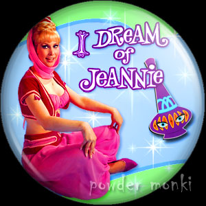 I Dream Of Jeannie - Retro Cult TV Badge/Magnet