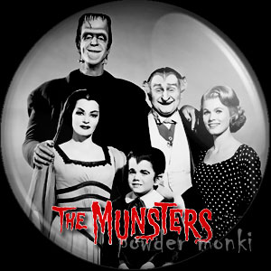 Munsters - Retro Cult TV Badge/Magnet