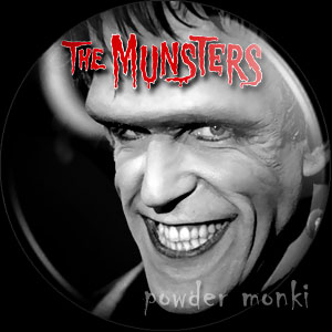 "Munsters ""Herman"" - Retro Cult TV Badge/Magnet"