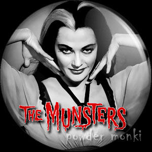 "Munsters ""Lily"" - Retro Cult TV Badge/Magnet"