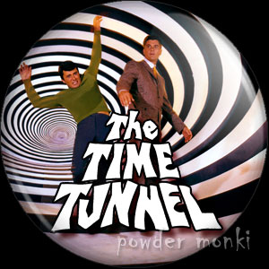 Time Tunnel - Retro Cult TV Badge/Magnet