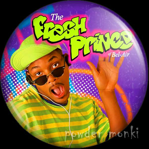 Fresh Prince of Bel-Air - Retro Cult TV Badge/Magnet