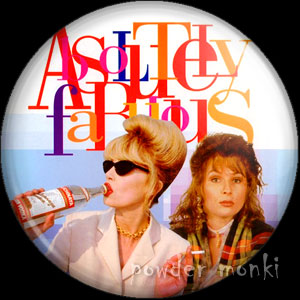 Absolutely Fabulous - Retro Cult TV Badge/Magnet
