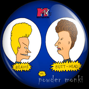 Beavis & Butthead - Retro Cult TV Badge/Magnet