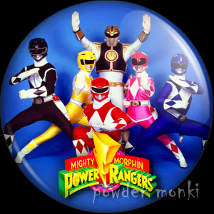 Power Rangers - Retro Cult TV Badge/Magnet