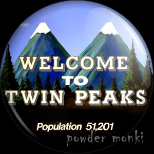 Twin Peaks - Retro Cult TV Badge/Magnet