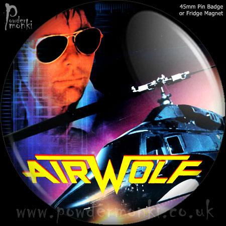 Airwolf - Retro Cult TV Badge/Magnet