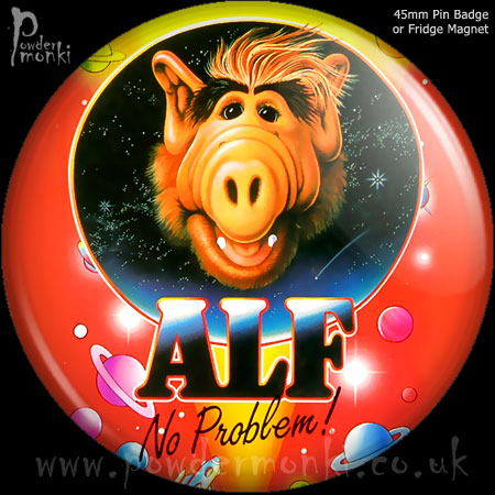 Alf - Retro Cult TV Badge/Magnet